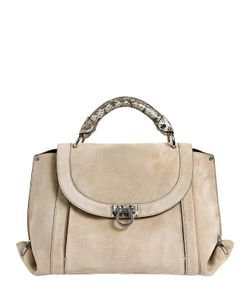 Salvatore Ferragamo | Medium Soft Sofia Suede Top Handle Bag
