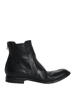 Officine Creative | Washed Leather Cropped Boots