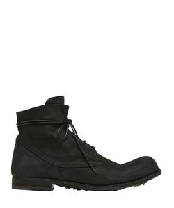 Officine Creative | Washed Horse Leather Lace-Up Boots