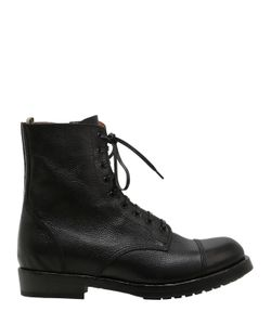 Officine Creative   Lace-Up Leather Boots With Side Zip
