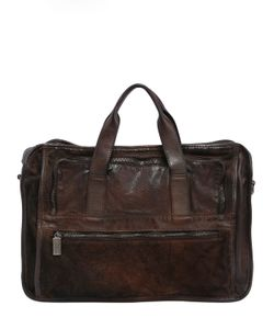 Numero 10 | Leather Briefcase Bag W Vintage Effect