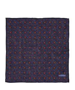 Tagliatore | Print Cotton Linen Pocket Square