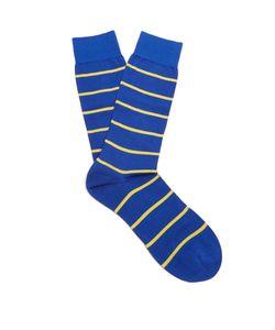 PANTHERELLA | Blavet Striped Cotton-Blend Socks