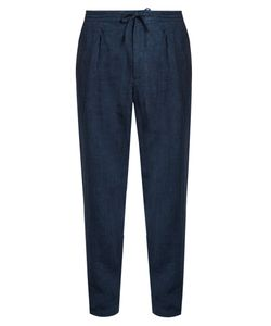 Ermenegildo Zegna | Pleated-Front Linen Straight-Leg Trousers