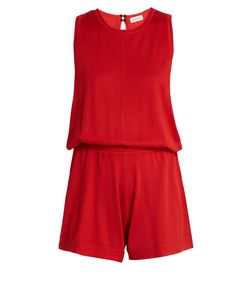 Le Kasha | Mumbai Sleeveless Cashmere Playsuit