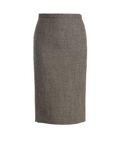 Rochas | Hounds-Tooth Wool-Blend Pencil Skirt
