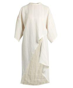 Esteban Cortazar   Asymmetric-Hem Striped Dress