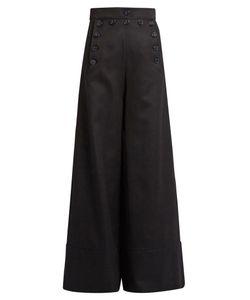 Chloé | Sailor High-Rise Wide-Leg Wool-Blend Trousers