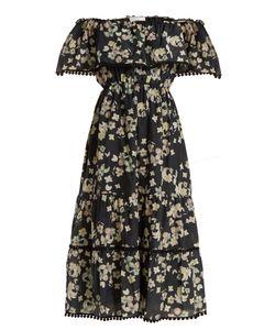 Athena Procopiou   Wild Grace Off-The-Shoulder Cotton-Blend Dress