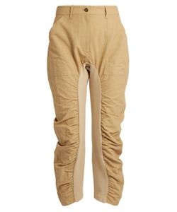 Stella McCartney | Tina Ruched-Leg Cropped Trousers