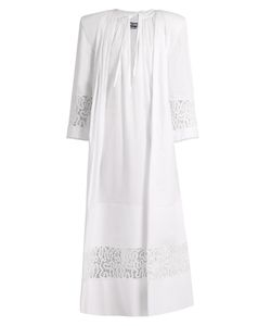 Jacquemus | Tie-Neck Lace-Insert Cotton Maxi Dress
