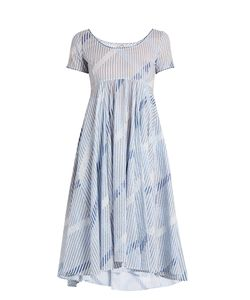 THIERRY COLSON | Romy Stripe-Print Cotton-Voile Dress