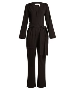 See by Chloé | Long-Sleeved Stretch-Crepe Jumpsuit