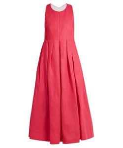 Delpozo | Racer-Back Linen Dress