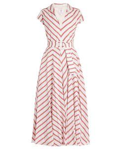 GÜL HÜRGEL   Striped Cotton And Linen-Blend Dress