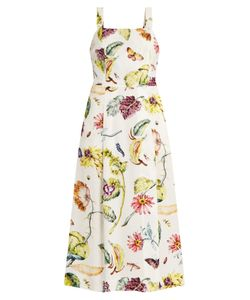 Adam Lippes | Square-Neck Print Crepe Dress