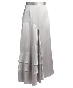 Roksanda | Vostell Tiered-Ruffle Silk-Satin Skirt