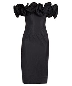 Brock Collection | Desree Off-The-Shoulder Ruffled Taffeta Dress