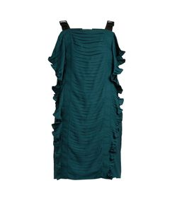 Marco de Vincenzo   Ruched Ruffle-Trimmed Satin Top