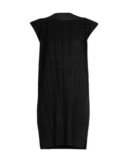 Pleats Please By Issey Miyake | Pata Pata Capped-Sleeve Pleated Dress
