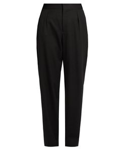 Saint Laurent | High-Rise Tapered-Leg Wool Trousers