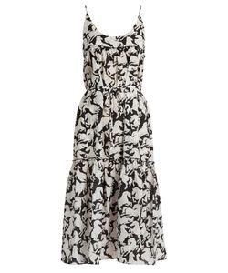 Stella McCartney | Running Horses-Print Cotton-Blend Midi Dress