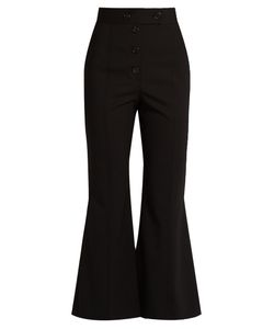 Proenza Schouler | High-Rise Fla Stretch-Wool Trousers