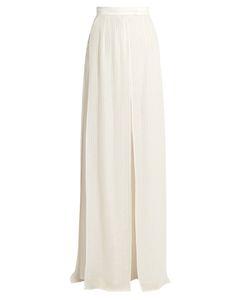 Elie Saab | Striped Wide-Leg Georgette Trousers