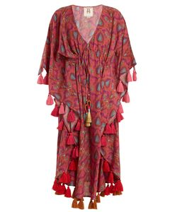 Figue | Amrita Paisley-Print Tasseled Cotton-Blend Kaftan
