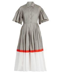 Vika Gazinskaya | Tri-Colour Cotton-Poplin Dress