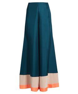 Roksanda | Oldridge Wide-Leg Satin-Twill Trousers