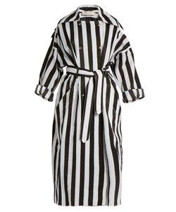 Nina Ricci | Double-Breasted Striped-Taffeta Trench Coat