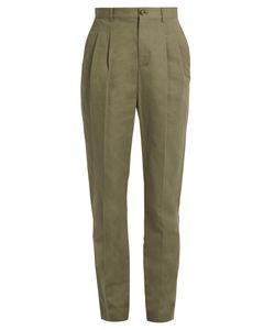 A.P.C. | Lena Slim-Leg Cotton-Blend Gabardine Trousers