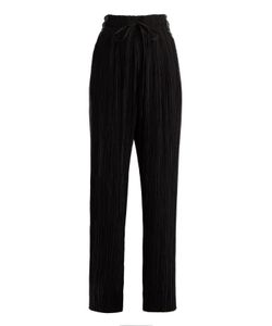 Haider Ackermann | Canis Contrast-Panel Wide-Leg Pleated Trousers