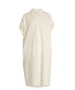 The Great | The Camper Dobby Dot-Embroidered Cotton Dress