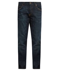 Dolce & Gabbana | Badge-Appliqué Five-Pocket Slim Jeans