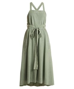The Great | The Apron Waist-Tie Cotton Pinafore Dress