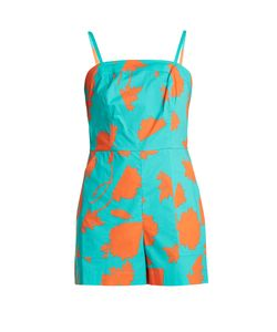 Diane von Furstenberg | -Print Stretch-Cotton Playsuit
