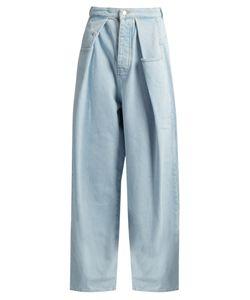 Martine Rose | Fold-Front Wide-Leg Denim Jeans