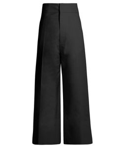 Jacquemus | High-Rise Wide-Leg Wool Cropped Trousers