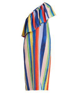 Mara Hoffman   Rainbow Watercolour Stripe-Print Linen Dress