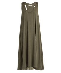 The Great   The Swing Sleeveless Cotton-Jersey Dress