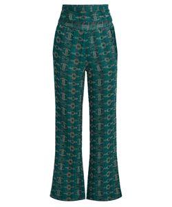 ACE & JIG | Dancin Embroidered Wide-Leg Cotton-Blend Trousers
