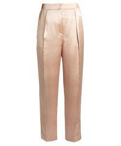 Roksanda | Surikov Pleated-Front Slim-Leg Satin Trousers