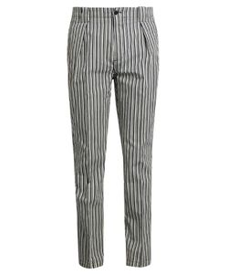 Etro | Stripe-Print Cotton-Blend Trousers