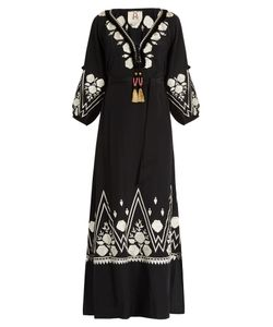 Figue | Lola Embroidered Silk Maxi Dress