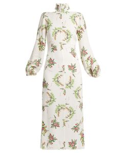 Emilia Wickstead | Alison Print Crepe Midi Dress