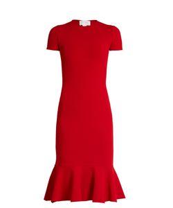 Esteban Cortazar   Cut-Out Back Crepe-Jersey Dress