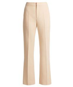 Chloé   High-Rise Slim-Leg Wool-Crepe Trousers