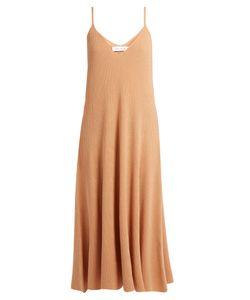 Ryan Roche | V-Neck Ribbed-Knit Cashmere Midi Dress
